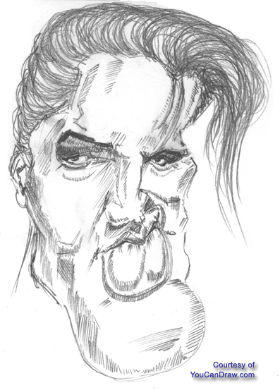 what makes elvis presley caricaturable the answer is in the details a george clooney like version